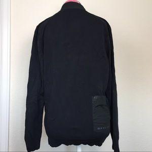 OAKLEY Black Knit/Windbreaker Zip Up Jacket